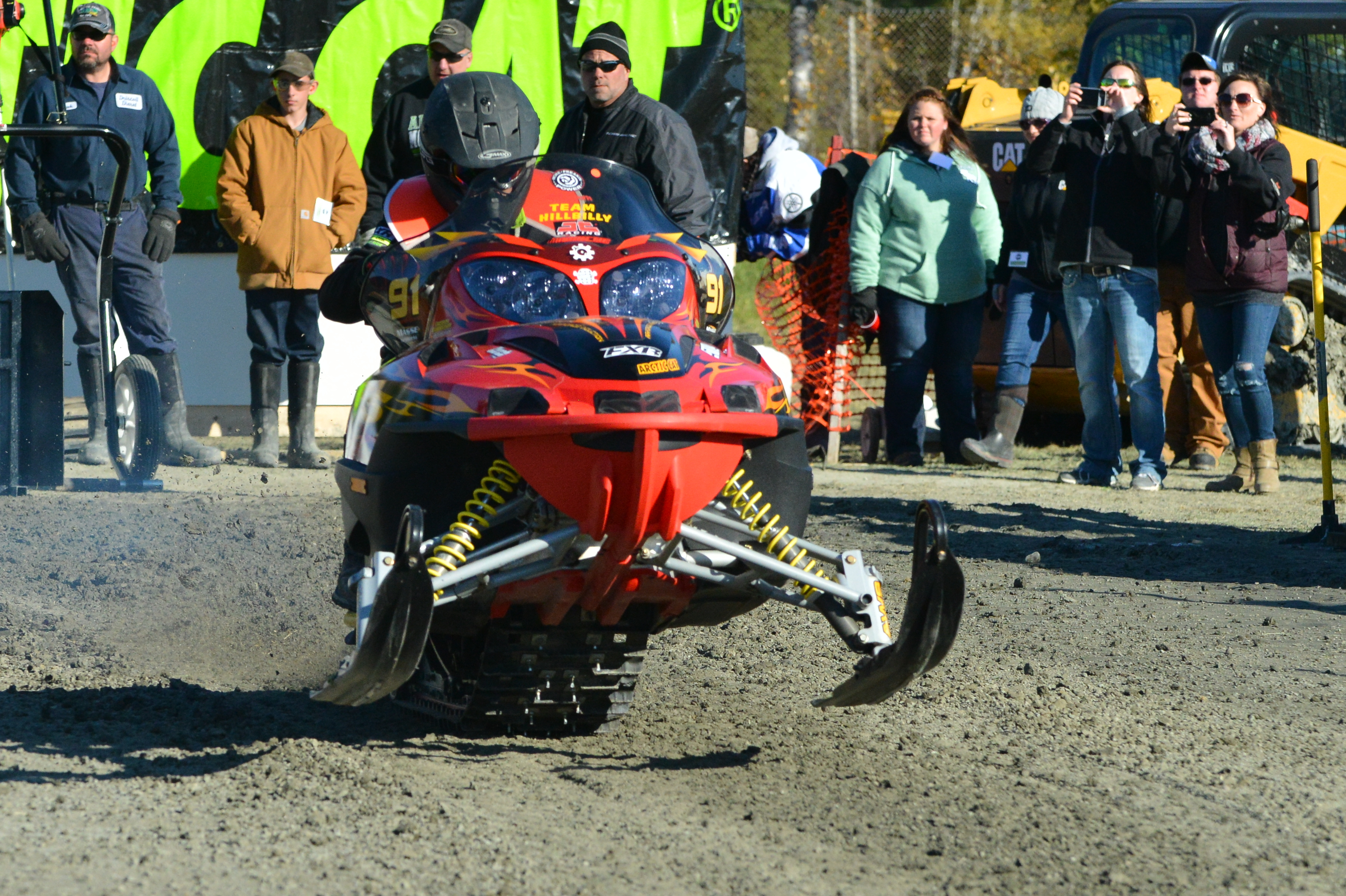 Snowmobile grass drag racing revived in Ashland - The County