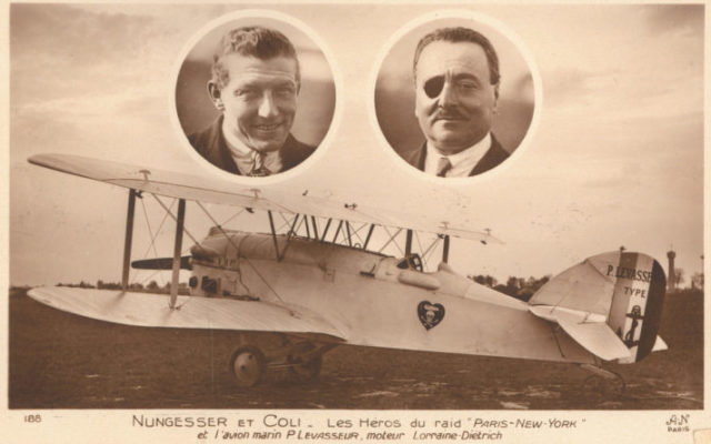 These French pilots almost beat Charles Lindbergh across the