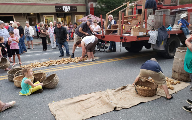 Sisters show potato-picking prowess at Elks Streetfair - The